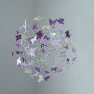 Lavendar,Silver and Purple Butterfly Mobile by ButterflyOrb  #mobiles #nursery decor #purple mobile  #butterfly mobiles