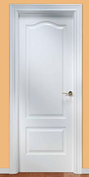 Puerta de interior lacada en blanco, modelo Lacada U32