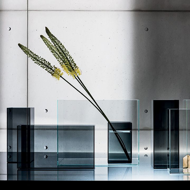 The Skyline cases entirely made of #glass. Decorates your spaces with an unique atmosphere. Available in extralight, smoked or bronzed finishes. #design by Gianluigi Landoni