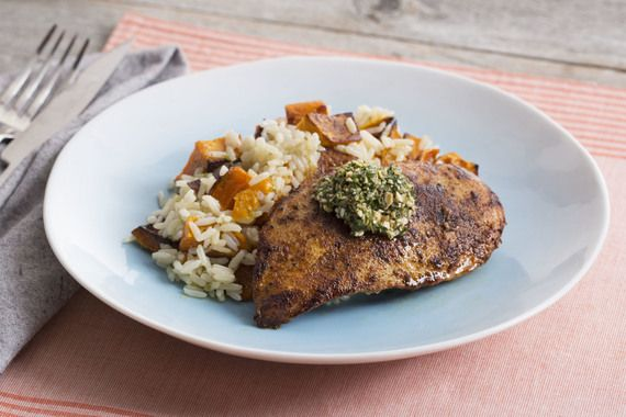 Seared+Chicken+with+Roasted+Honeynut+Squash+&+Garlic+Rice.+Visit+https://www.blueapron.com/+to+receive+the+ingredients.