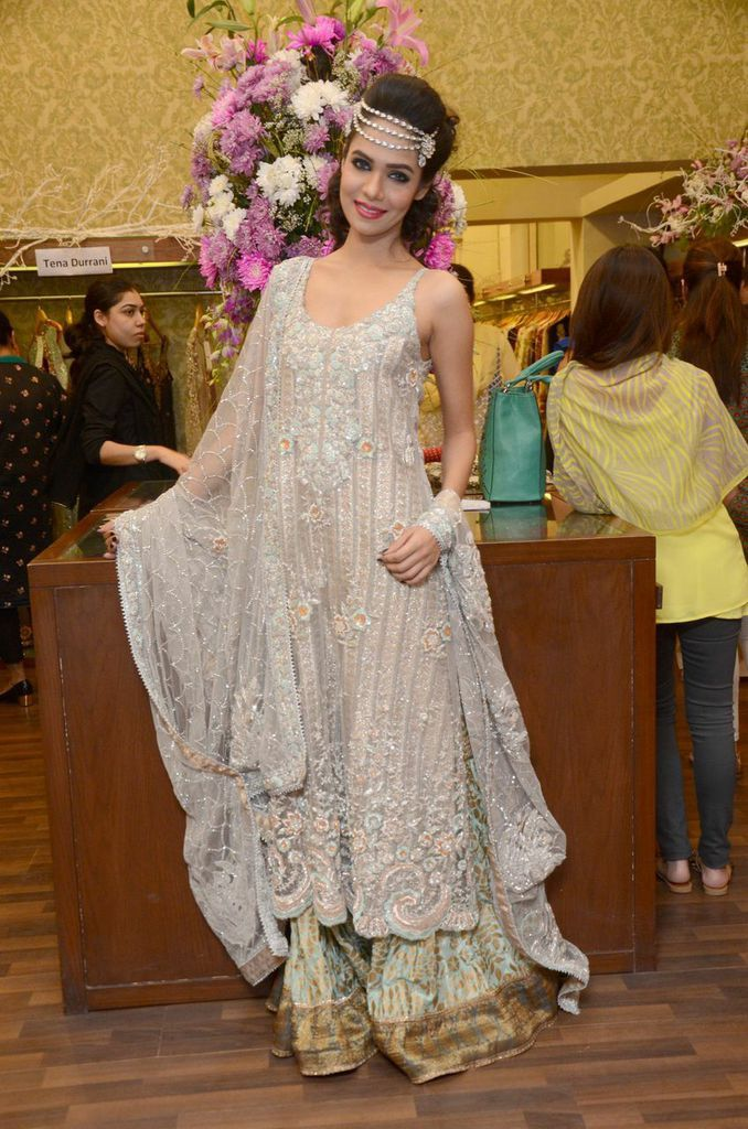 Tena Durrani's Bridal Trunk Show at Ensemble Lahore. 24.09.14 Featured outfit: Kohinoor