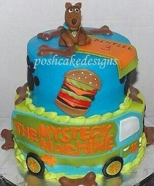Scooby Doo Birthday Cake Mystery Machine Scoobydoo Poshcakedesigns Com Birmingham