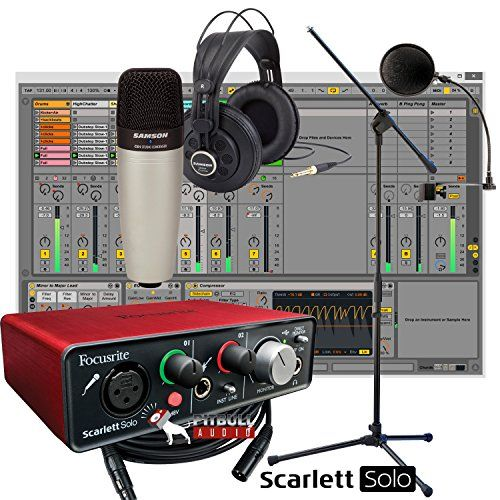 Focusrite Scarlett Solo USB + Samson C01 Mic + Samson SR850 Headphones + Mic Stand + Home Recording Studio Bundle   Focusrite Scarlett Solo USB + Samson C01 Mic + Samson SR850 Headphones + Mic Stand + Home Recording Studio Bundle Everything you need to record your music or podcast.  http://www.instrumentssale.com/focusrite-scarlett-solo-usb-samson-c01-mic-samson-sr850-headphones-mic-stand-home-recording-studio-bundle/
