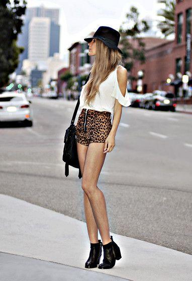 leopord shorts & moto booties