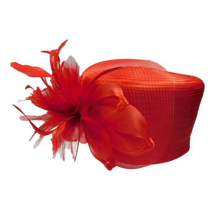 Satin Braid Pillbox Hat with Mesh Bow