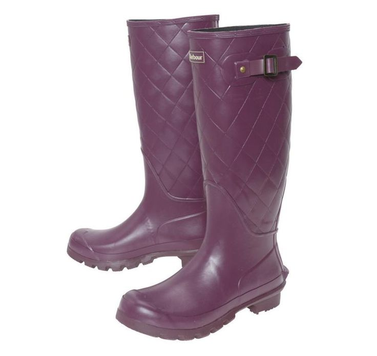 Barbour Setter Ladies Purple Wellington Boots - £69.95 - Top quality Barbour footwear from Barnets Shoes
