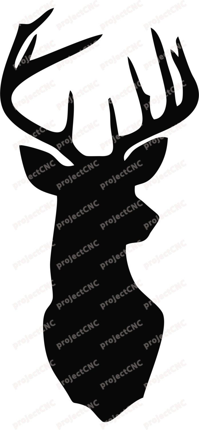 Deer Head Wall Art Decor Stag Head Antlers CNC Cut file Laser DXF CAD drawing cuttable pattern line cdr svg graphic digital router design