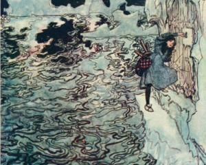 The good little Sister cut off her own tiny finger, fitted it into the lock, and succeeded in opening it - Arthur Rackham