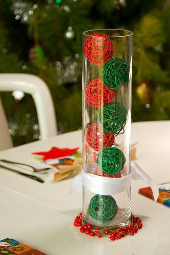 Bolas de sisal para navidad