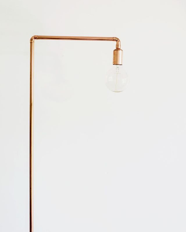 The top half of the Tall Man Light. Also with a French oak base and filament bulb (a 180cm high version of the Write Light).