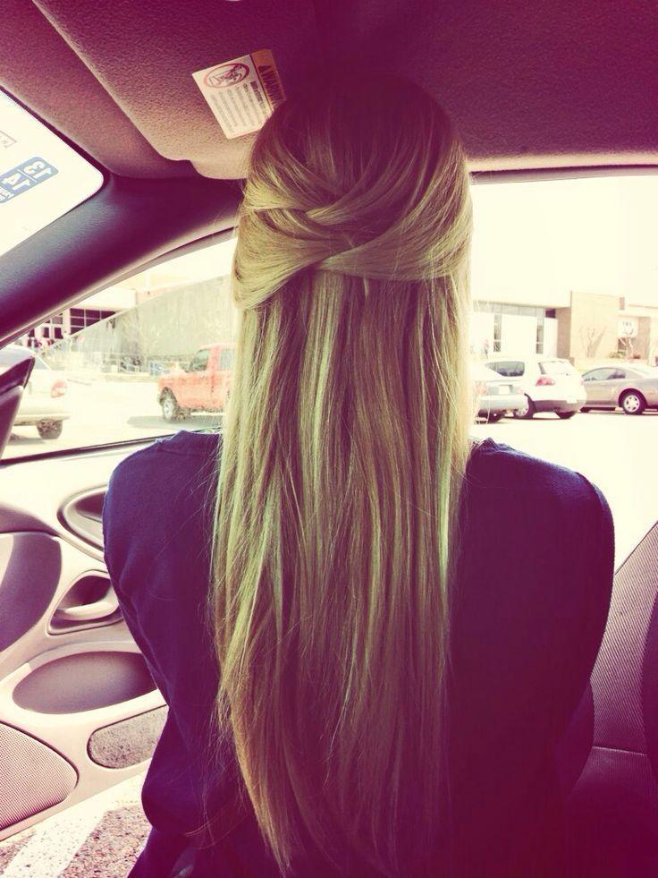 Überqueren Sie die Hälfte nach oben und unten. Ideal für eine schnelle Schulfrisur. #cross #great #Hair #schnelle #Schule