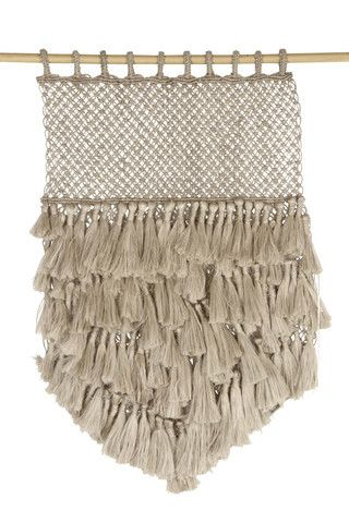 Jute Macrame Wall Hanging by The Dharma Door. Handcrafted by fair trade artisans in Bangladesh.