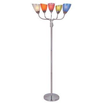 Lite Source Uni II 5 Light Floor Lamp & Reviews | Wayfair