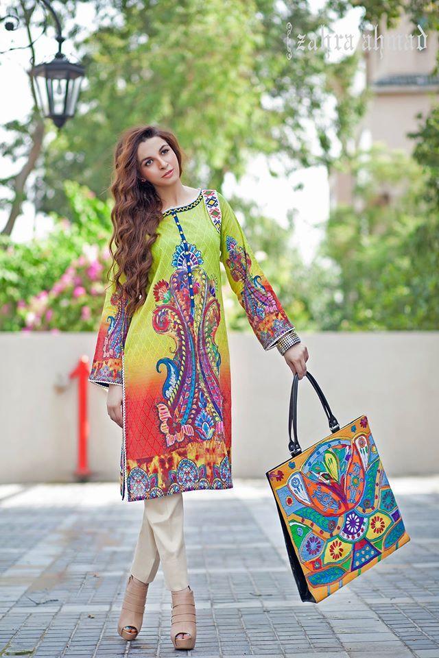 Zahra Ahmad Summer Tunic Kurtis Dresses 2015 http://www.upfashiony.com/2015/07/zahra-ahmad-summer-tunic-kurtis-dresses.html