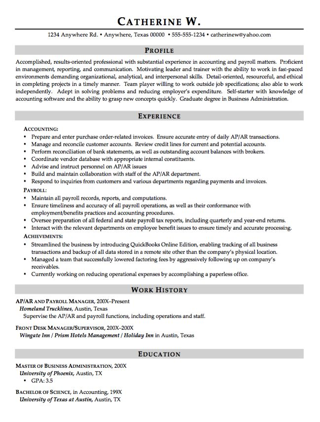 Example of Financial Advisor Resume -   resumesdesign
