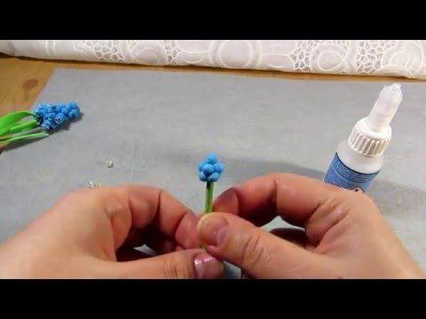 Мускари из фоамирана - YouTube