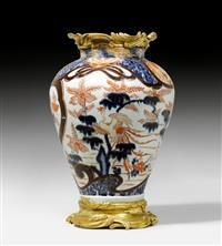 LARGE VASE WITH BRONZE MOUNT,the porcelain from Japan, Imari, ca. 1700, the bronze parts attributed to J.C. DUPLESSIS (Jean Claude Duplessis, Turin 1699-1744 Paris), Paris ca. 1730. #Koller #Auktionen #Auctions