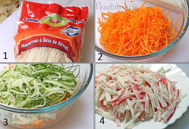 Salada de Macarrão de Arroz