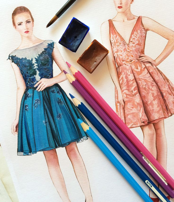 Fashion illustration by Doll Memories @dustymemories