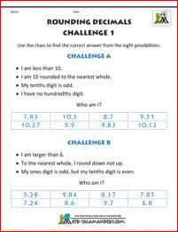 rounding decimals worksheet image