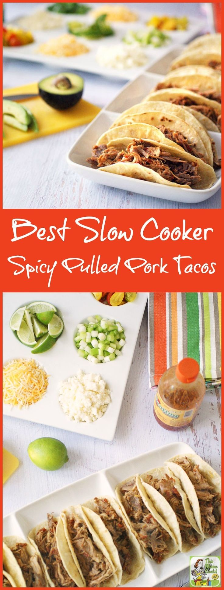 Need a recipe for Taco Tuesday or Family Taco Night? Try this Best Slow Cooker Spicy Pulled Pork Tacos recipe. Super easy and great for parties, too!