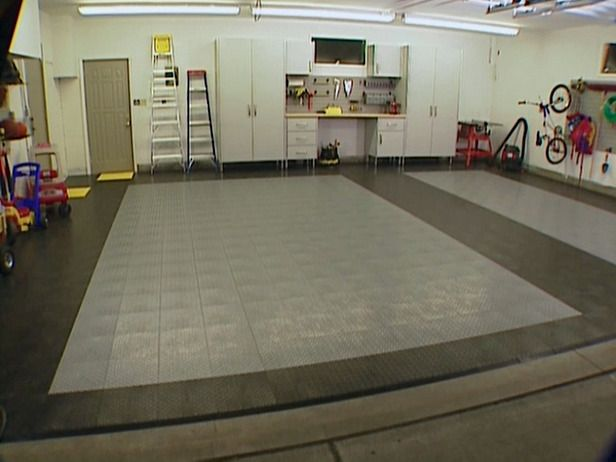 How to Lay Garage Floor Tiles | See best ideas about Diy ...