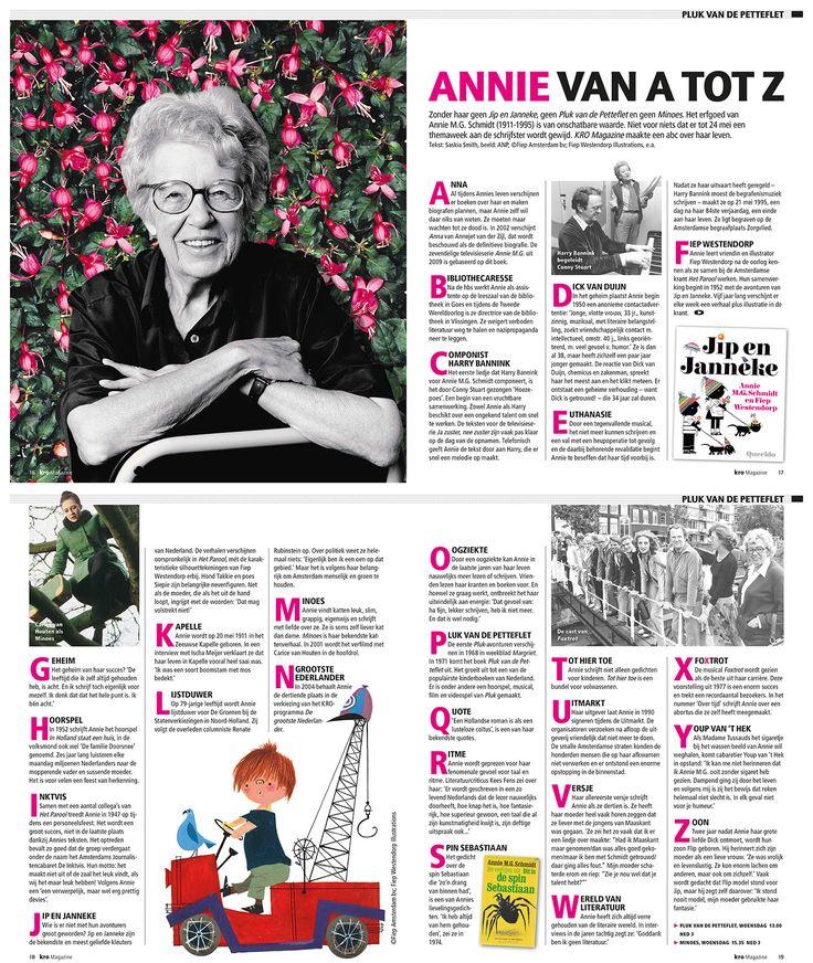 Annie MG Schmidt week Editorial design KRO Magazine