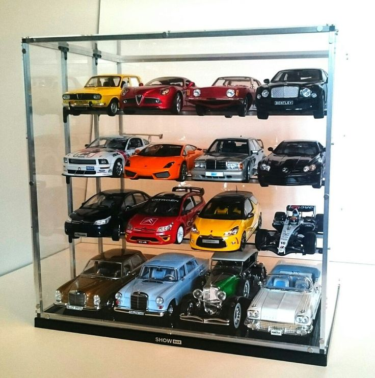 1/18 Display Cabinet Case Diecast Models Dust Free