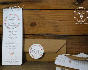 Partecipazione invito nozze matrimonio  con fiori