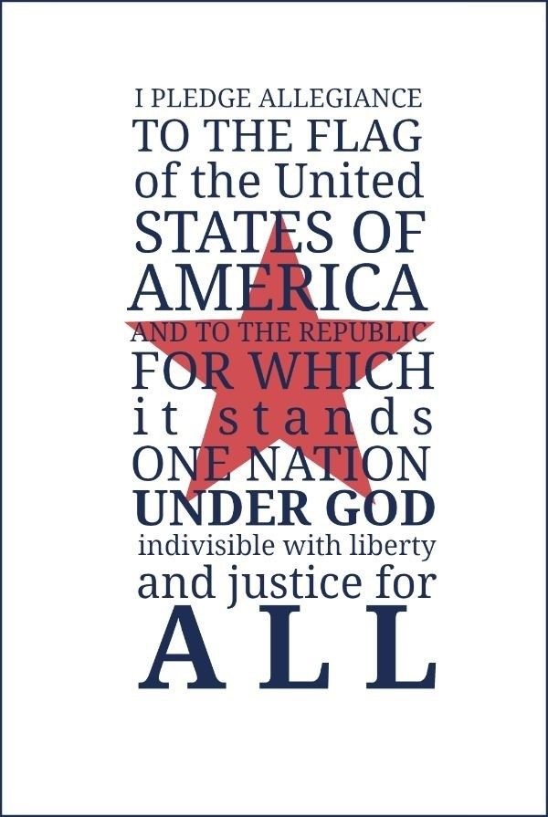 This morning Abby and I recited the Pledge of Allegiance on our way to school and she was amazed that I knew all the words. She thought this was only something she does in her classroom every morni…