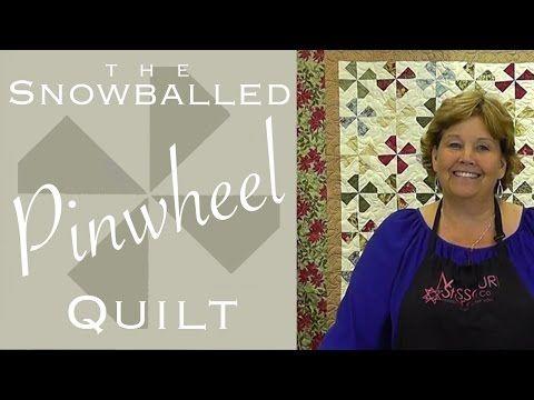 snowballed pinwheel quilt