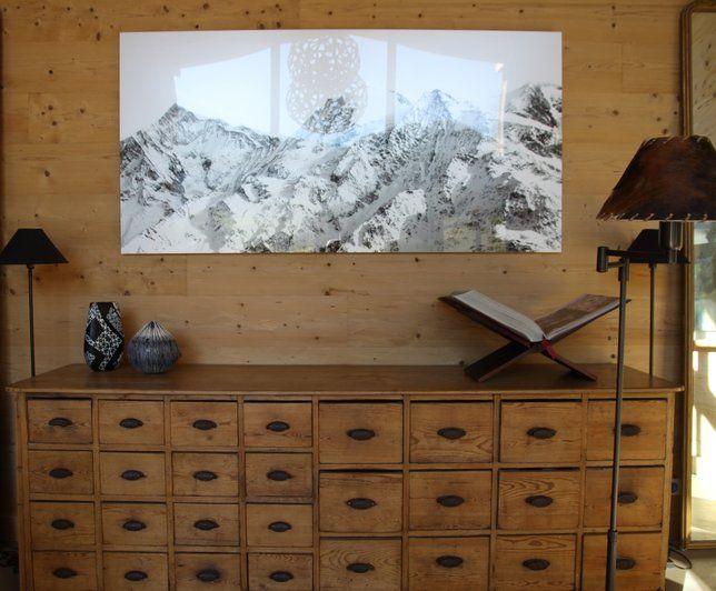 Photo Deco : Salon Design Chalet Design Moderne Rustique | chalets ...