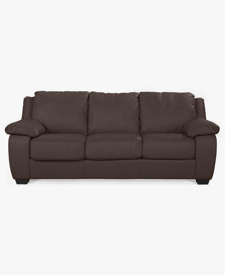 Blair Leather Sofa Bed, Full Sleeper 87
