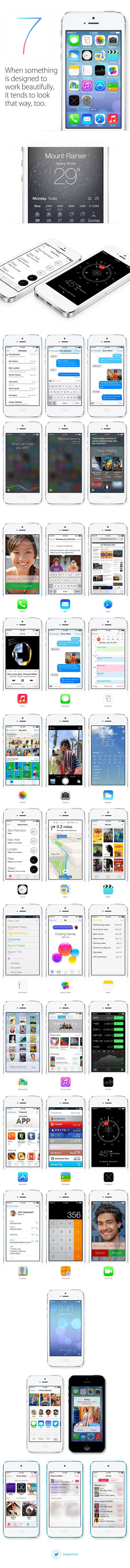 Apple iOS7 - new flat design *** #ios #apple #gui #ui