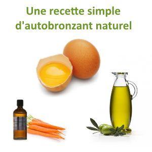 antobronzant naturel recette