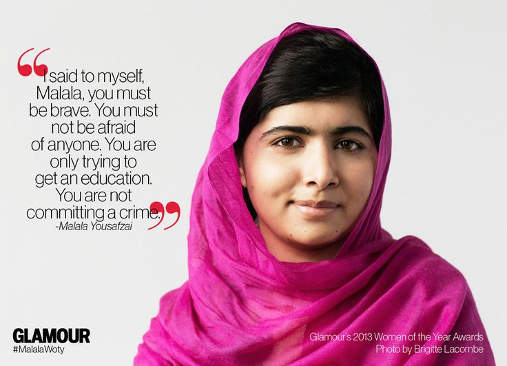 Malala Yousafzai is a 2013 Glamour Woman of the Year; Join Us as we Support Her Mission to Make School a Basic Right For Every Girl