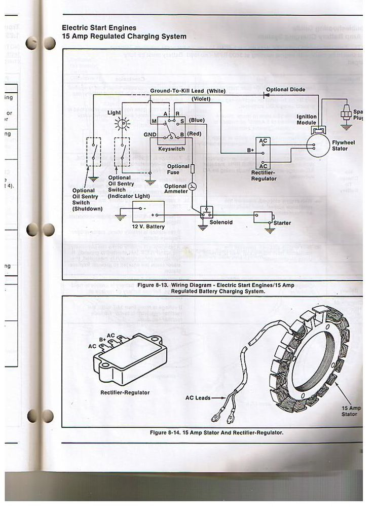 Kohler Engine Electrical Diagram | Re: Voltage regulator