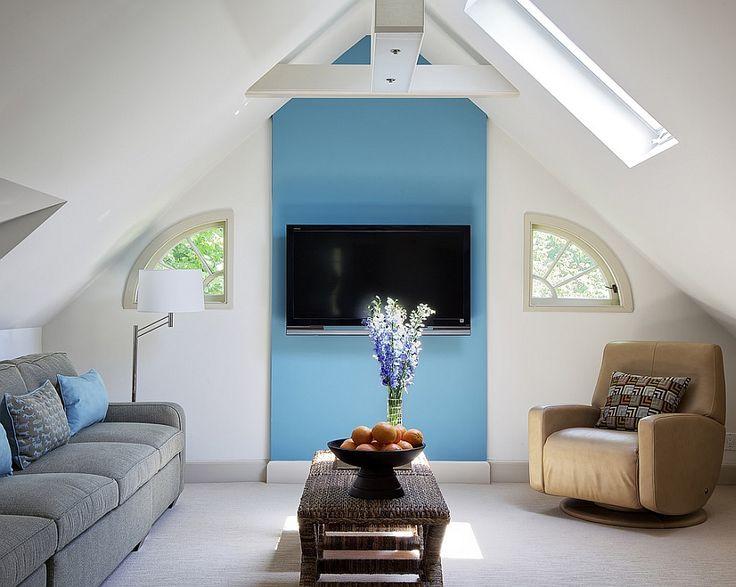 Cozy, small attic living space [Design: B Fein Interiors]