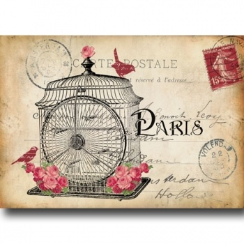 Postcard Birdcage 3 on Lish