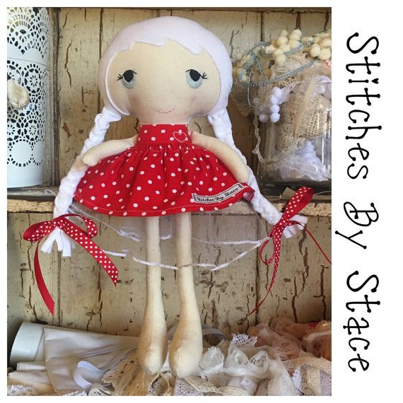 Doll. Cloth doll. Fabric doll. Rag Doll. by StitchesByStace