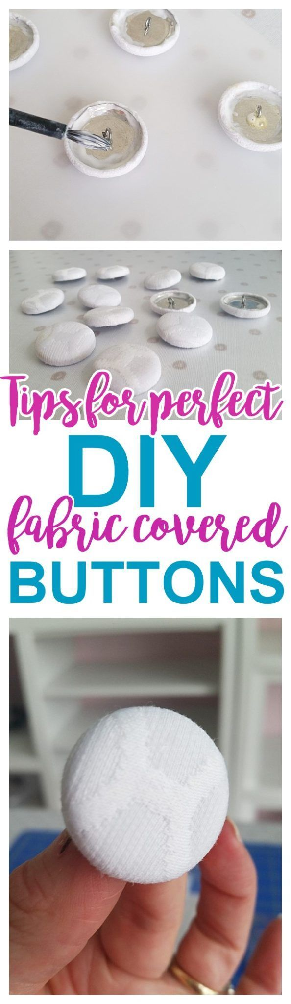 DIY Upholstery Fabric Covered Buttons - Tips, Tricks and Hacks to make them EASY and STURDY - Do it Yourself Step by Step Tutorial via Dreaming in DIY