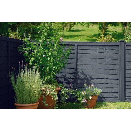 Slate Grey Garden Fence