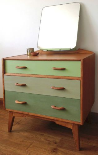 Retro G Plan Painted Wood Dressing Table With Hinged Mirror *OFFERS CONSIDERED!* | eBay