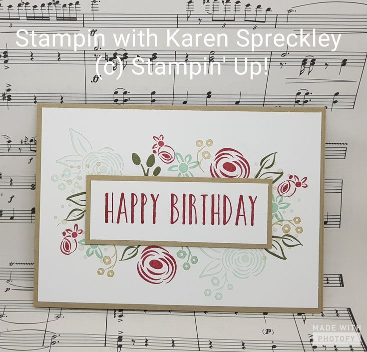 Stampin Up Perennial Birthday