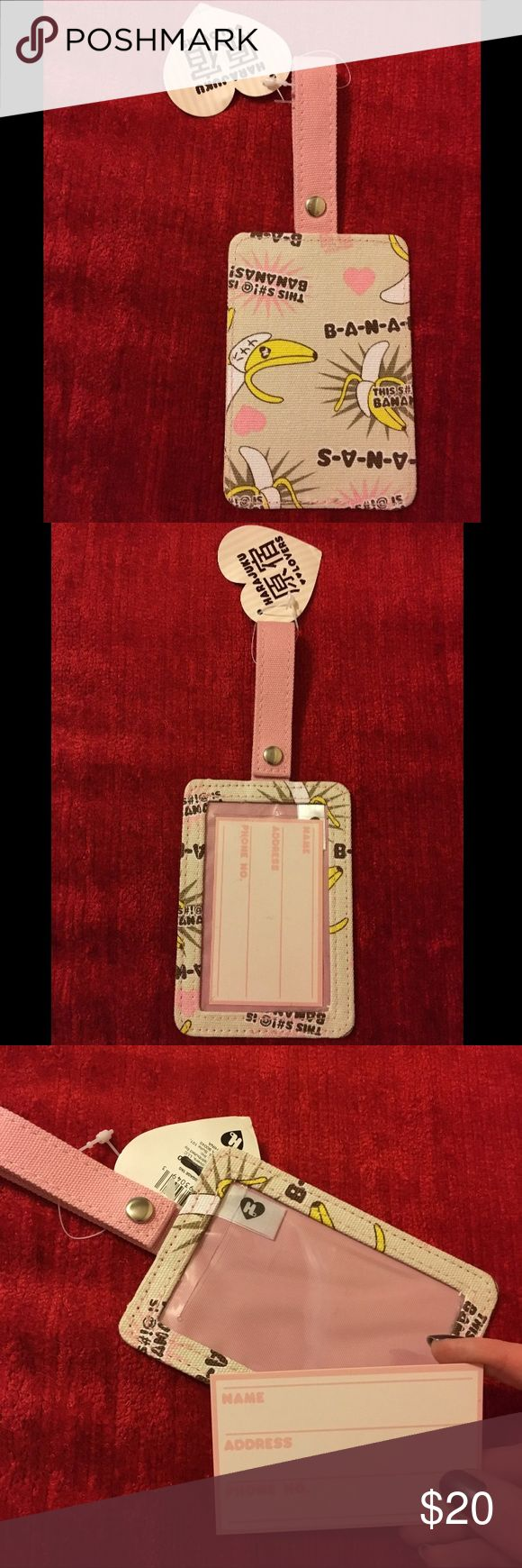 Harajuku Lovers luggage ID identification tag Designed by Gwen Stefani - featuring Hollaback Girl lyrics! So cute! Brand new with tags. Bundle discount available. Harajuku Lovers Accessories