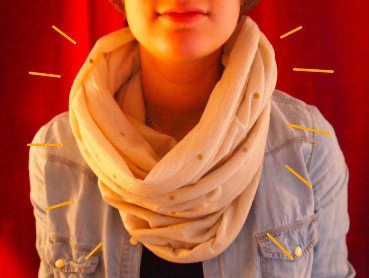 Lilikus: • DIY • Customiser une écharpe unie