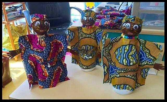 Poupées africaines - La classe de Teet et Marlou