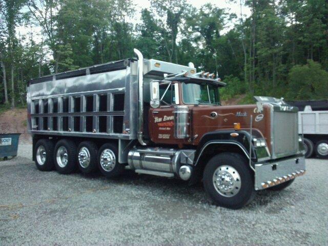 Mack Quad Dump Trucks : Tom brown trucking mack superliner dump truck semi