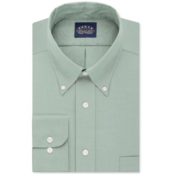 Eagle Men's Classic-Fit Stretch Collar Non-Iron Solid Dress Shirt ($70) ❤ liked on Polyvore featuring men's fashion, men's clothing, men's shirts, men's dress shirts, moss, no iron mens shirts, men's non iron dress shirts, mens stretch dress shirt, eagle mens dress shirts and mens collared shirts