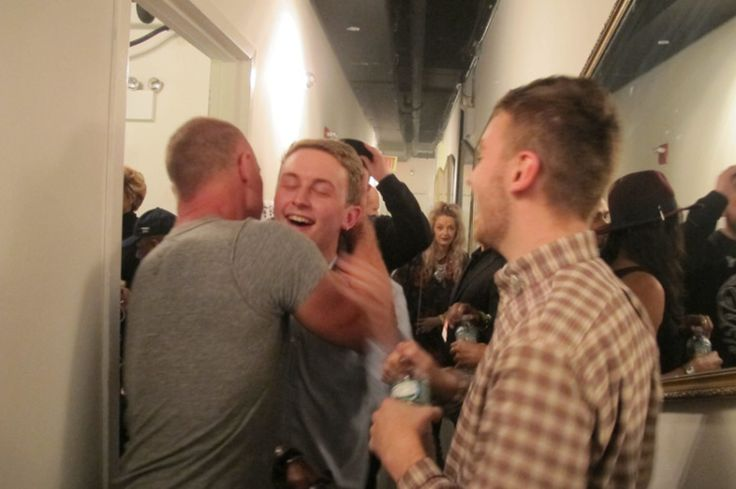 7.Jan. 19, NYC:  Sting congratulates Disclosure back stage after their third consecutive sold-out show at Terminal 5